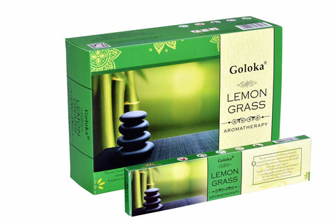 Goloka Aroma Lemongrass series collection incense sticks- 6 boxes of 15 gms (Total 90 gms) - wallets for men's at mens wallet