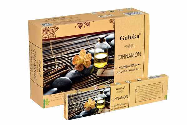 Goloka Aroma Cinnamon series collection incense sticks- 6 boxes of 15 gms (Total 90 gms) - wallets for men's at mens wallet