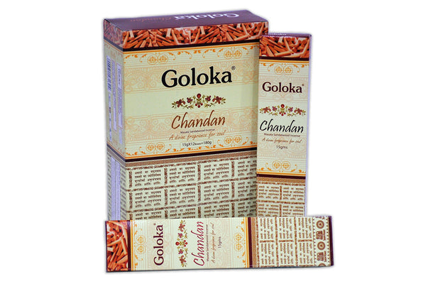 Goloka Premium Series Collection high end incense sticks 15 gms  (Premium Chandan)