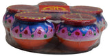 New Diwali Decorative Diya Set of 5 Pieces Oil Lamp Traditional Indian Puja Gift - wallets for men's at mens wallet