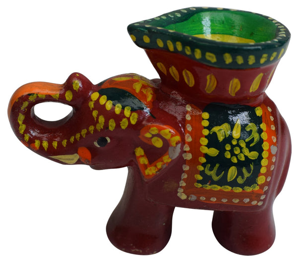 Elephant Clay Diya Special Decorative Diwali Item Oil Lamp Indian Festival Gift - wallets for men's at mens wallet