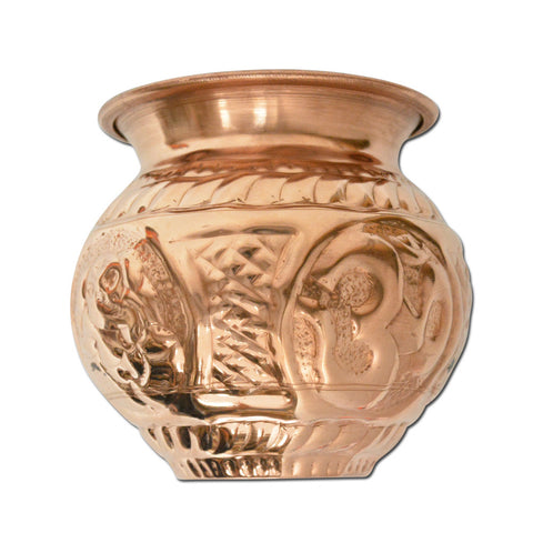 Copper Lota / Kalash Handcrafted Ayurvedic Water Pitcher - Small, Medium or Large