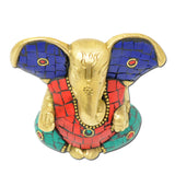 Ganesh/Vinayak/Ganpati/Gajanan Handmade Religious Gift Solid Brass Statues/Sculptures of Hindu God Sri Ganesha Home Decor Artifact