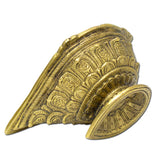 Traditional Brass Oil Diya, Leaf Under Leaf Diwali Diya, Ornamental Oil Diya (Medium)