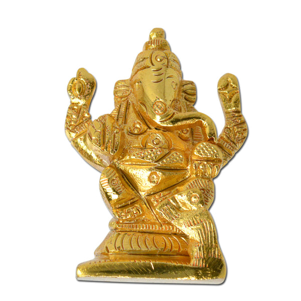 Brass Ganesha Sculpture, Antique Look Solid Brass Artifact, Vintage Decorative, Valuable Collection, Rustic Finish, Vintage Religious Gift, Home Decor