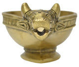 Brass Cow shaped Oil Diya, Traditional Style Diya (Medium)