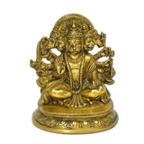 Brass Panchmukhi Hanuman Idol in Sitting Posture