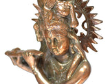 Black Metal Brass Lord Shri Krishna Idol
