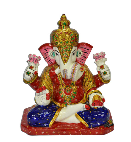 COLOR GANESH IDOL