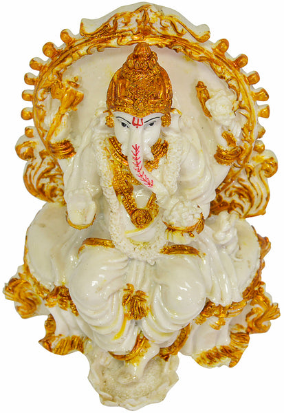 White Ganesh Idol