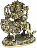 Brass Durga Sitting On Lion ( SMALL)