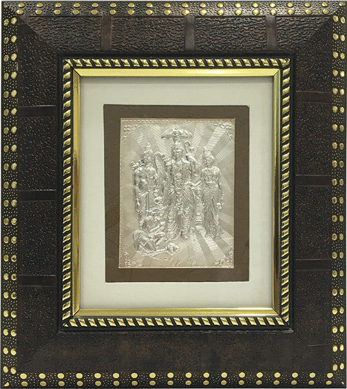 "Silver Picture in Frames Ram Darbar 8""x8"""