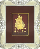 "Gold Leaf Picture in Frames Krishna and Radha 12""x10"""