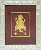 "Gold Leaf Picture in Frames Ganesh 12""x10"""