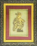 "Gold Leaf  Picture in Frames Krishna Radha16""x13"""