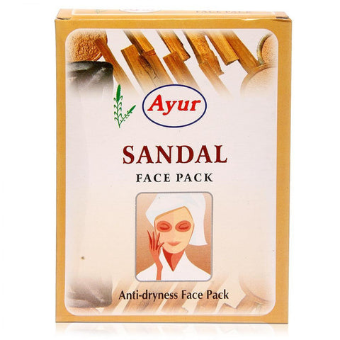 Ayur Herbal Sandal (Chandan) Anti-Dryness Face Pack Powder -  (100gm)