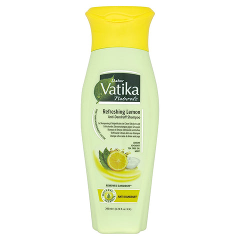 Dabur Vatika Natural Shampoo (Refreshing Lemon Anti Dandruff) - 400ml