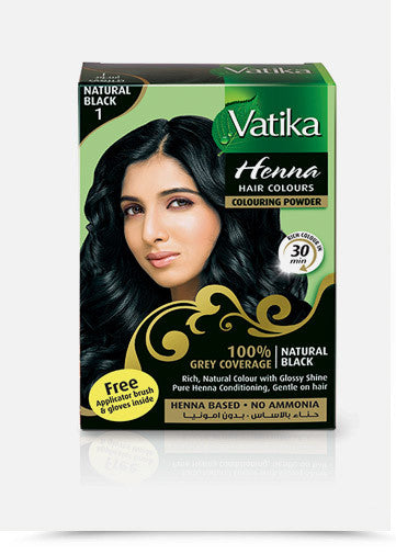 Vatika Henna Hair Colour - Natural Black (60grm)