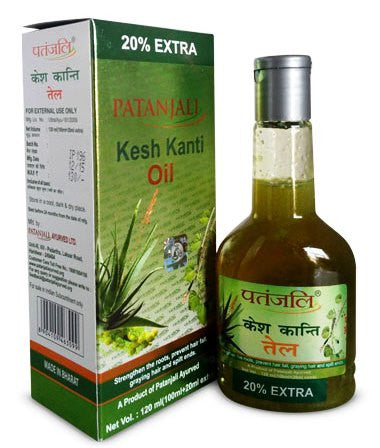 Patanjali Divya Kesh Kanti Hair Oil for Strong Hair Split Ends Grey Hair and Hairloss- 100ml