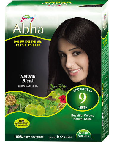 Godrej Abha Henna Colour (Brown) (Burgundy) (Natural Black)-60grm