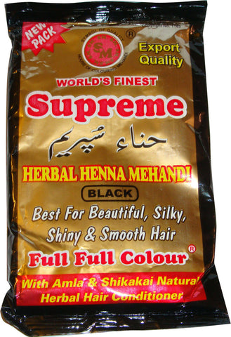 Supreme Herbal Henna Mehandi (Black)-150grm