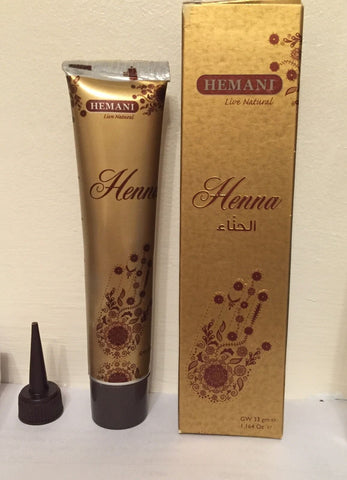 Hemani Henna Tube/ Cone/Pen for Temporary Tattoo 100% Natural- 33grm (Red)