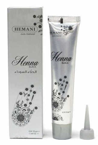 Hemani Henna Tube/ Cone/Pen for Temporary Tattoo 100% Natural- 33grm (Black)