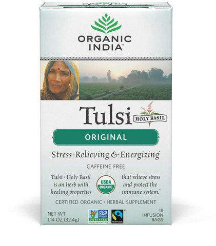 Organic India Organic Tulsi Herbal Tea (Original)-18 Tea Bags