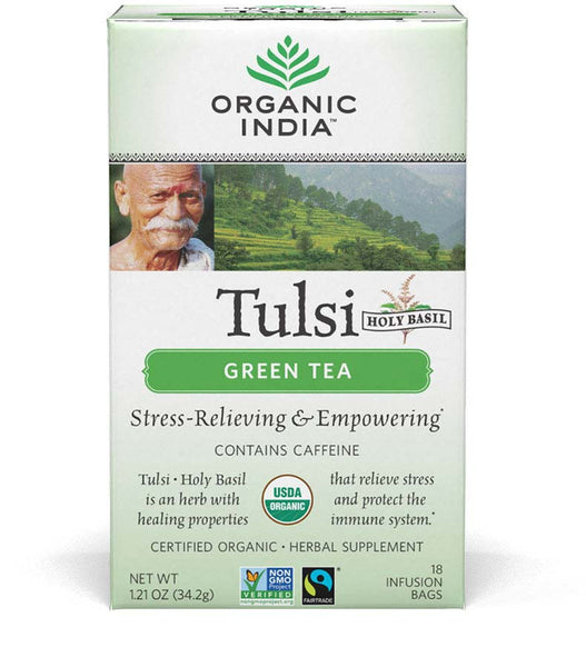Organic India Organic Tulsi Herbal Tea (Green Tea)-18 Tea Bags