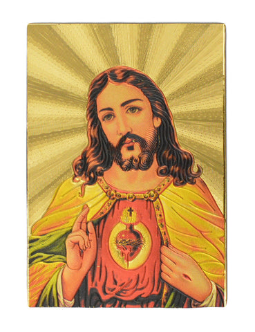 "Fridge Magnet - Jesus, Gold Colored. Size : 2""W X 2.9""H (approx.)"