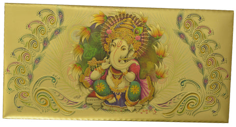 Golden Envelop (Ganesh With Bansuri)- 5 Envelop