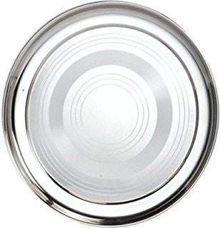Thali - Stainless Steel Round Dinner Plate -30cm