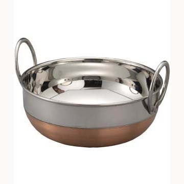 Bengani Copper Bottom Kadahi With Lid