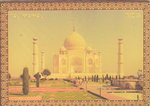 "Fridge Magnet -  Taj Mahal  , Gold Colored. Size : 2.5""W X 3.5""H (approx.)"