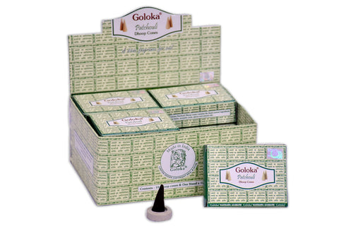 Goloka Patchoili cone incense - 12 Boxes