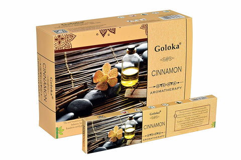 Goloka aromatherapy series collection high end incense sticks-15 gms ( Aeroma-Cinnamon)