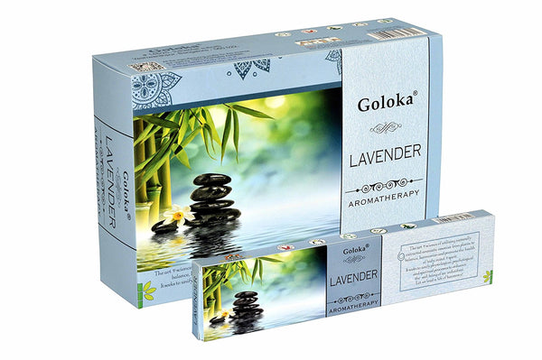 Goloka aromatherapy series collection high end incense sticks-15 gms ( Aeroma-Lavender)