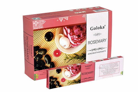 Goloka aromatherapy series collection high end incense sticks-15 gms (Aroma Rosemary)