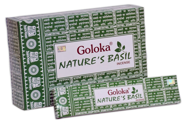 Goloka nature series collection high end incense sticks 15 gms  (Nature's Basil)