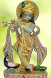 Krishna With Bansuri - Jade Marble