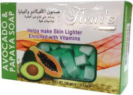 Hemani Fleur's Herbal Soap(100Grm)_(Avocado & Papaya)