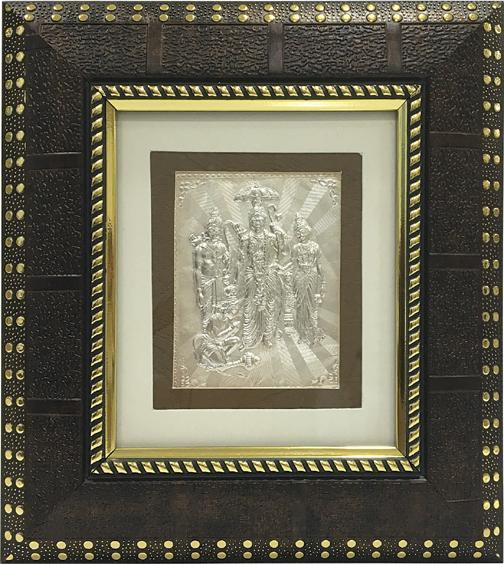 "Silver Picture in Frames Ram Darbar 8""x8"" - wallets for men's at mens wallet"