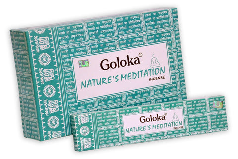 Goloka nature series collection high end incense sticks 15 gms  (Nature's Meditation)