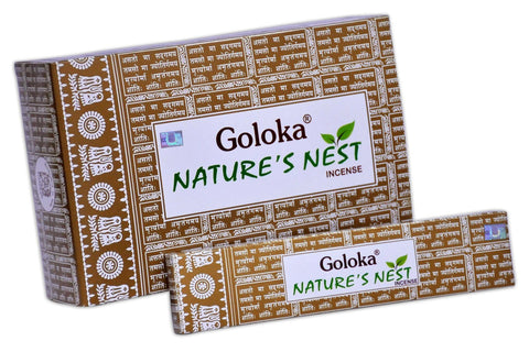 Goloka nature series collection high end incense sticks 15 gms  (Nature's Nest)