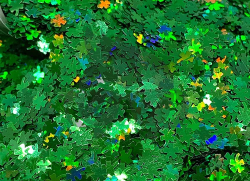 Shape Glitter-LUCKY CLOVERS