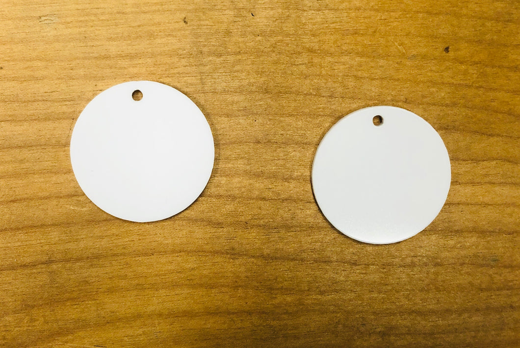"Round (1.5""L) Earring Acrylic Blanks for Sublimation"