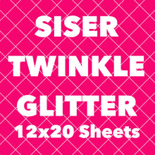 "Siser TWINKLE Glitter HTV Sheets (12 x 19.6"" actual size)"