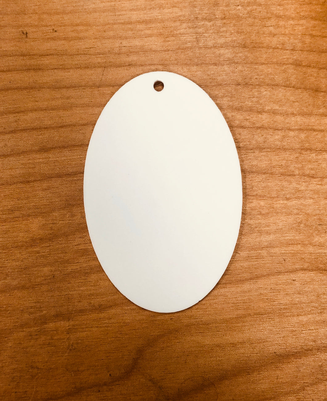 "Oval Keychain (3""L) Acrylic Blanks for Sublimation"