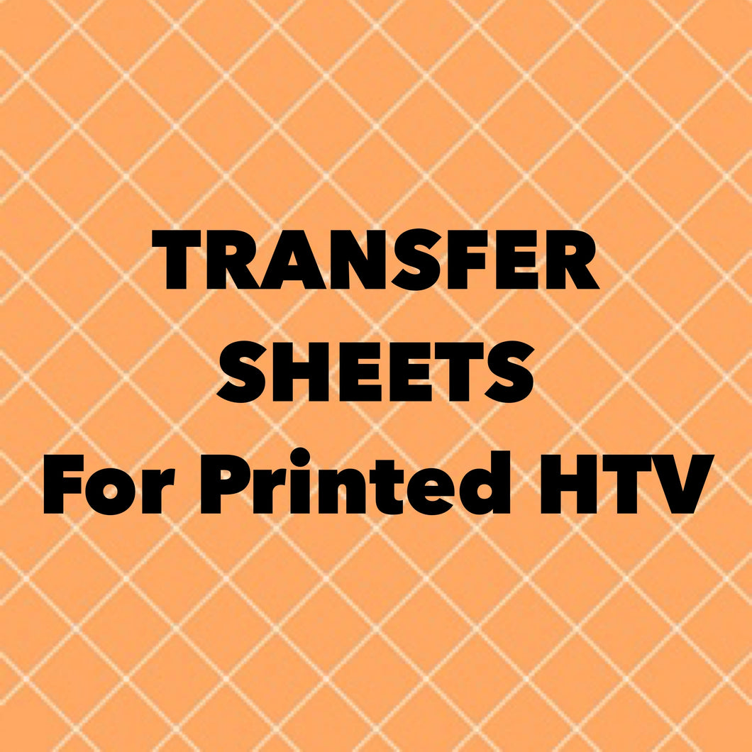 Transfer Sheets for Printed HTV