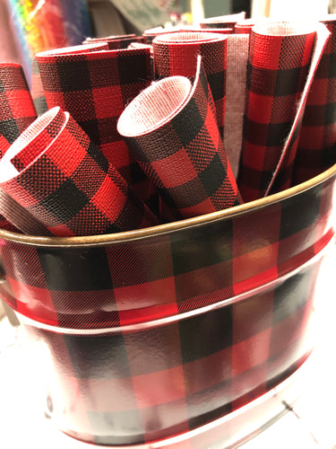 BUFFALO PLAID Printed Faux Leather Sheets-Holiday 2020
